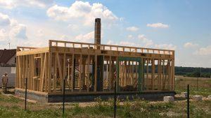 dokončování dřevěné konstrukce